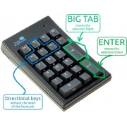 Truly Ergonomic Mechanical Numeric Keypad for Data Entry - PC