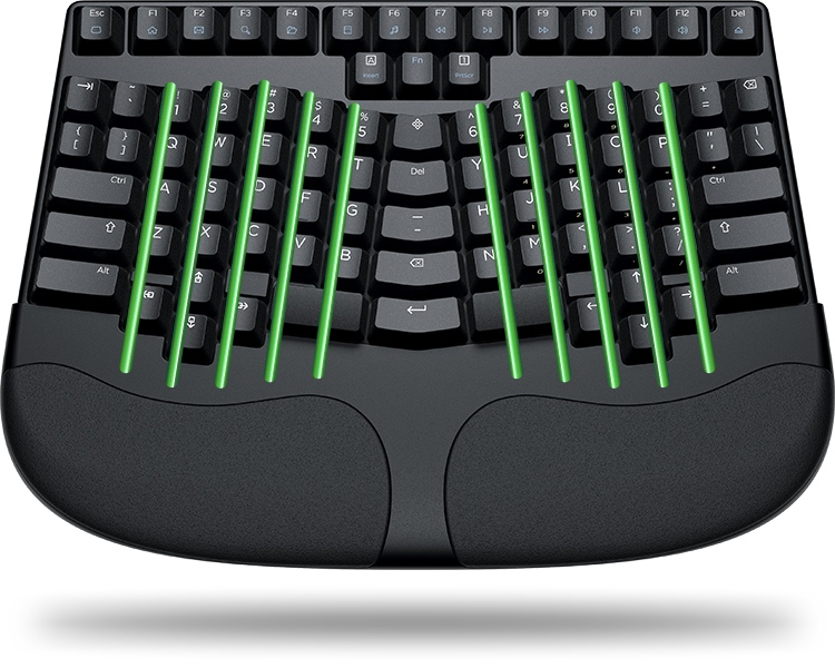 Truly Ergonomic keyboard with Symmetrical design